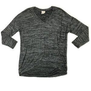 Nordstrom/Andrea Jovine, Gray Knit Top